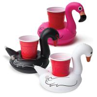 Cheap Flamingo Pool Floating PVC Inflatable Can Holder for Party,promotional gifts for sale