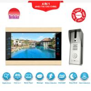 Best Wired video camera doorbell metal video interphone intercom for villa/home/office/apartment wholesale