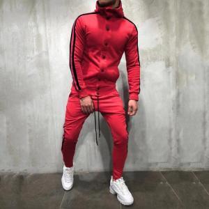 Best Custom Autumn Fashion Mens Tracksuit Set / Sportswear Hoodies Set for Men wholesale