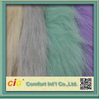 China 83% Acrylic 17% Polyester High Pile Faux Fur Fabric For Garment And Funiture on sale