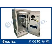 Best Single Wall Galvanized Steel Outdoor Communication Cabinets Grey Color RAL7035 wholesale