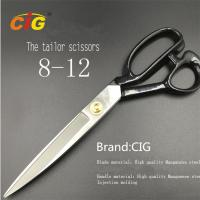 "Best 8"" - 12"" Stainless Steel Tailor Scissors For Cutting Fabric , Leather wholesale"