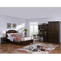 Best American Leisure Antique Design Single bedroom furniture Small bed with writing Desk and Bookcase and 2 door wardrobe wholesale