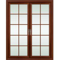 Best 2.0mm profile thickness red sandalwood powder coated aluminum hinged doors for entry door wholesale