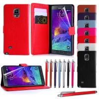 Lichee Grain Leather Wallet Samsung Cell phone Covers for Galaxy Note 4 with Stand