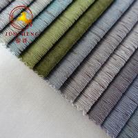 Best 2018 New arrival bronzed polyester fabric for furniture wholesale