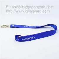 China Rivet polyester lanyard with metal clasp hook custom made on sale