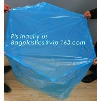 China sealable square bottom pallet shrink wrap plastic cover for bags, jumbo black lightproof and waterproof plastic pallet c on sale