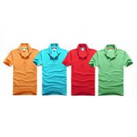 Cheap Embroidery Cotton Polo Shirts Eco - Friendly Yarn Dyeing In A Variety Of Colors for sale