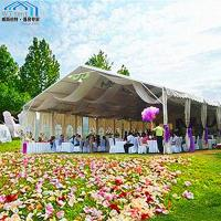China Red Giant Outdoor Wedding Tent UV Resistant Holiday Parties Use on sale