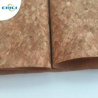 Best 53'' Cork Leather Fabric Customized Color 0.4±0.05mm Thick For Shoes Application wholesale