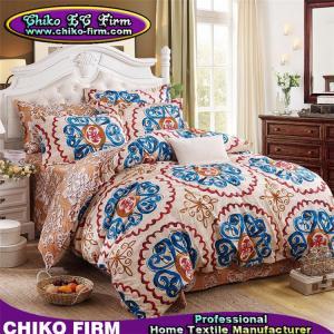 China CKMFM006-CKMFM010 Vintage Customs Design 100% Polyester Pillow Cases Flat Sheet Duvet Cover Sets on sale