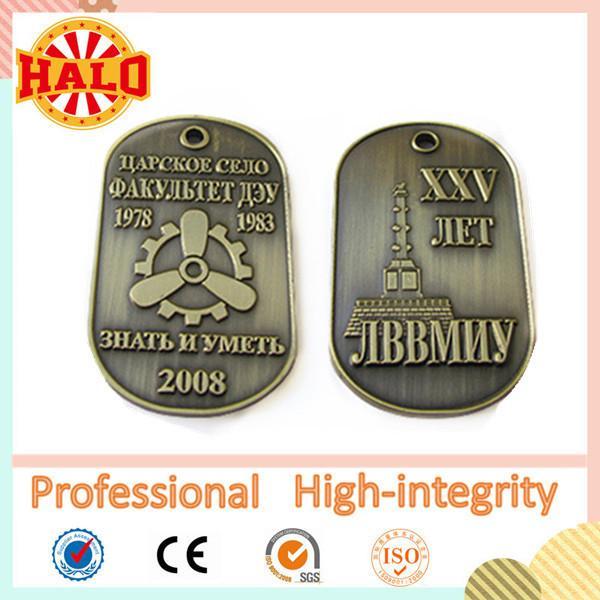 Quality Zinc alloy custom military dog tag for sale