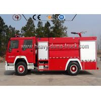 China LHD 8t Firefighter Truck , Red Color Fire Fighting Equipment Manual Transmission Type on sale