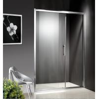 Best 1200-1800X1950mm Replacement Sliding Glass Shower Doors , Shower Cubicle Doors With Double Wheels wholesale