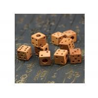 Best Mahogany Scorpion Wood Making Gifts Polishing Surface Pendant Wooden Hollow Dice wholesale