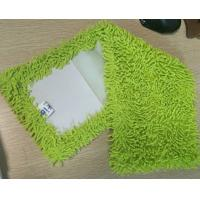 Best Microfiber 650gsm Green Small Chenille Folded 13*47cm Oxford Pocket Wet Mop Pads wholesale