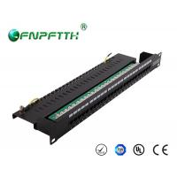 Best Network 25 Port fibre optic patch panels with high carbon steel outer frame wholesale