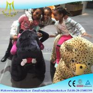 Best Hansel    plush spraying machine motorized plush riding animals mall car for kids wholesale
