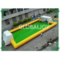 China PVC Tarpaulin Inflatable Sport Game Football Field / Inflatable Football Pitch wholesale