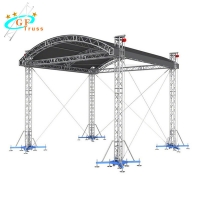 Best 6082 Curved Canopy Arch Roof Truss For Indoor Performance wholesale