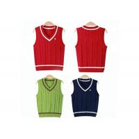 Best Kindergarten Sweater Vest School Uniform Sleeveless ODM / OEM Accepted wholesale