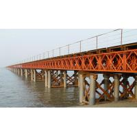 Buy cheap Prefabricated Compact Bailey Bridge / Portable Steel Bridge Light Weight product