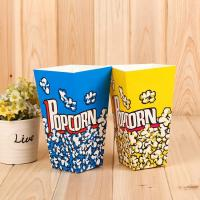 Best Custom Printed Disposable Popcorn Containers Food Grade Soy Ink Color Printing wholesale