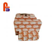 China Custom Cardboard Gift Boxes Set CMYK Color Appearance With Stable Handle on sale