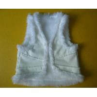 Best Suede And Fur Joint Winter Vest Jackets , Warm Womens Sleeveless Vest Jacket wholesale