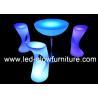 China Illuminated High LED Bar Stool with 2000 - 4400mAh rechargeable Lithium Battery wholesale