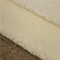 China Commercial Suede Sherpa Fur Fabric Bonded With Sherpa 100% Polyester on sale