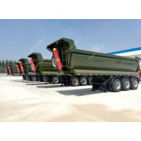Best 3 axles half pipe type tipping Dump Trailer 50 - 80 ton Capacity wholesale
