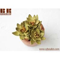 Best customized mini wedding wooden round ring box with succulent wholesale