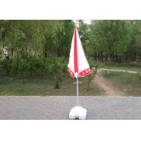 Cheap High Grade Custom Printed Beach Umbrellas Red And White For Shops Promotion for sale
