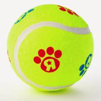 Best 4inch pet toy tennis ball with custom logo printed wholesale