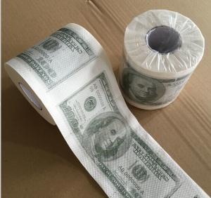 Best Custom Printed Dollar& Emoji toilet tissue paper wholesale