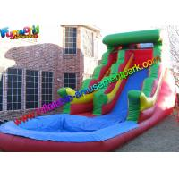 Best Big Rainbow Wave Backyard Inflatable Water Slides With Splash Pool wholesale