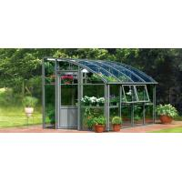 Best 4*6ft close to a wall greenhouse with single sliding door wholesale
