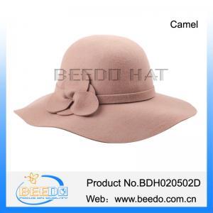 Best Hot selling women wool felt winter floppy hat wholesale