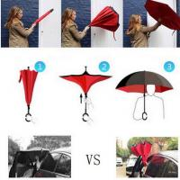 Best Drop Shipping Windproof Reverse Folding Double Layer Inverted Chuva Umbrella Self Stand Rain Protection C-Hook Hands For wholesale
