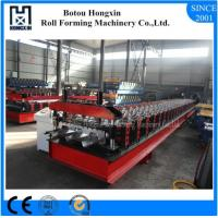 Best Trapezoidal Profile Floor Deck Roll Forming Machine With Punching 30 Rows Roller wholesale