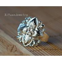 Best Miao silver ring ancient fragrant flower,discount silver jewelry #1966 wholesale
