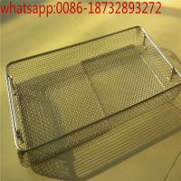 China customize stainless steel 304 needle cleaning basket / disinfection baskets with cover/stainless steel medical basket on sale