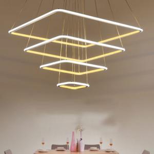 China Modern Led Individual Acrylic Pendant Lights Square Pendant Lamp Fixtures on sale