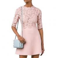 Best Summer Pink Sleeves Lace Stitching casual women