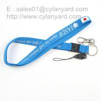 China Silkscreen printing polyester lanyards with plastic breakaway clip, on sale