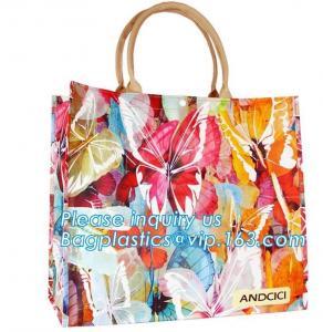Best Pvc Travel Biodegradable Shopping Bags Drawstring Handle Handy Women Shopper wholesale