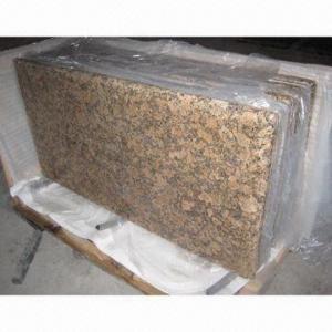China Giallo Fiorito granite countertops, customized designs are accepted on sale