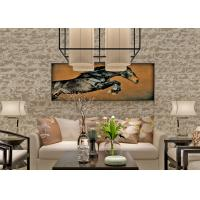Best Removable Non Woven Faux Brick Wallpaper With Stone Pattern For Room wholesale